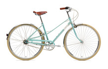 Creme Caferacer Doppio Stadsfiets Dames 7-speed groen